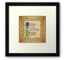 The Frogs sang loudly too German Version Framed Print