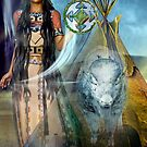 white  buffalo  calf woman 2 by shadowlea