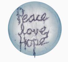PEACE, LOVE, HOPE One Piece - Short Sleeve