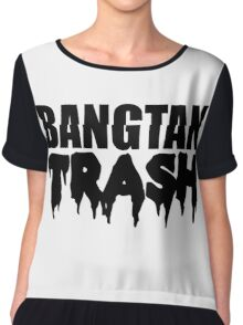 BTS/Bangtan Boys Trash Text Chiffon Top