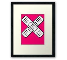 Band Aid Framed Print