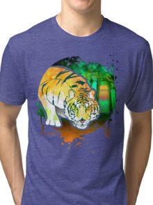 Tiger Pounce  Grunge Tri-blend T-Shirt