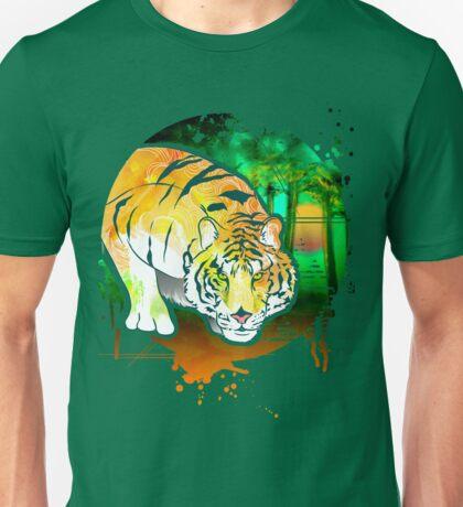 Tiger Pounce  Grunge Unisex T-Shirt