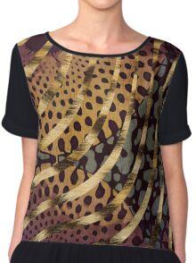 Cheetah Ankara Pattern Swirl-Sunset  Chiffon Top