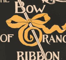 Artist Posters The bow of orange ribbon a romance of New York by Amelia E Barr Dodd Mead Company publishers LF Hurd 0578 Sticker