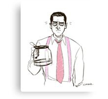 Barba and the empty coffee pot Canvas Print