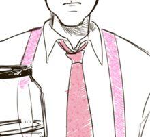 Barba and the empty coffee pot Sticker