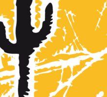 cool pattern sun night moon cliff mountainside werewolf cactus sunset full moon desert canyon cactus Sticker