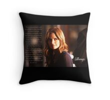 Kate Beckett Throw Pillow