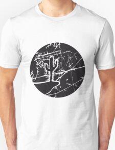 cool pattern sun night moon cliff mountainside werewolf cactus sunset full moon desert canyon cactus Unisex T-Shirt