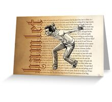 Shakespeare Rogue and Peasant Slave Soliloquy David Tennant Hamlet Greeting Card
