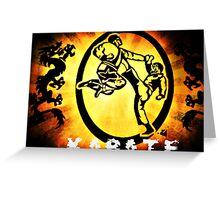空手 Karate Greeting Card