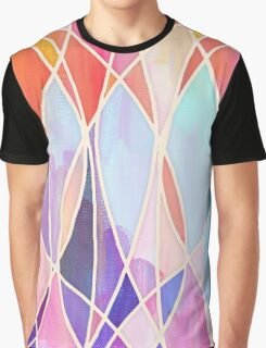 Purple & Peach Love - abstract painting in rainbow pastels Graphic T-Shirt