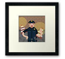Police office Framed Print
