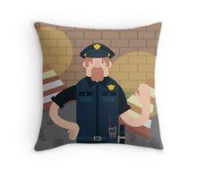 Police office Throw Pillow