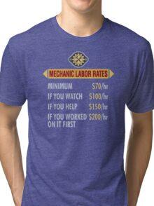 Mechanic labor rates Tri-blend T-Shirt