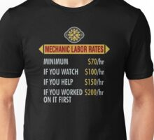 Mechanic labor rates Unisex T-Shirt
