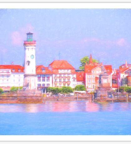 Lindau Harbour Sticker