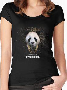DESIIGNER PANDA TOP CHART Women's Fitted Scoop T-Shirt