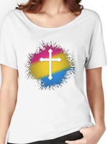 Pansexual Pride Cross Women's Relaxed Fit T-Shirt