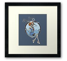 Skelly the Sailor Girl Framed Print