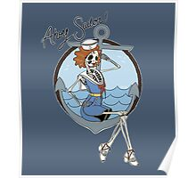 Skelly the Sailor Girl Poster