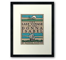 Artist Posters The last voyage of the Donna Isabel by Randall Parrish 0703 Framed Print