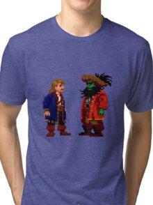 Guybrush & LeChuck (Monkey Island 2) Tri-blend T-Shirt