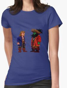 Guybrush & LeChuck (Monkey Island 2) Womens Fitted T-Shirt