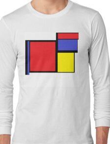 Tribute to 80's Mondrian Long Sleeve T-Shirt