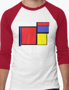 Tribute to 80's Mondrian Men's Baseball ¾ T-Shirt