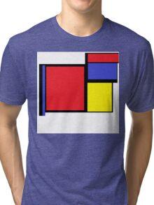 Tribute to 80's Mondrian Tri-blend T-Shirt