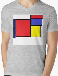 Tribute to 80's Mondrian Mens V-Neck T-Shirt