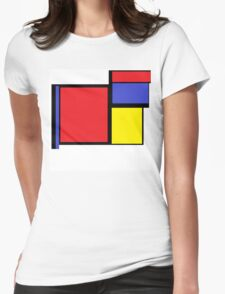 Tribute to 80's Mondrian Womens Fitted T-Shirt