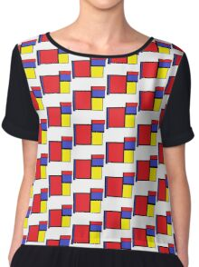 Tribute to 80's Mondrian Chiffon Top