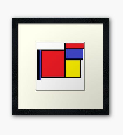 Tribute to 80's Mondrian Framed Print