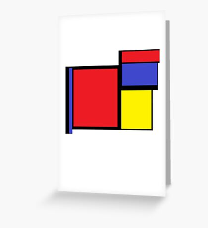 Tribute to 80's Mondrian Greeting Card