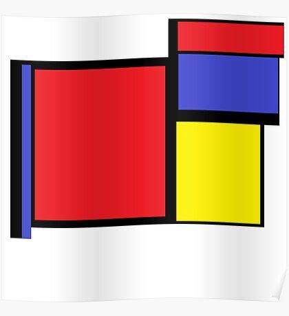 Tribute to 80's Mondrian Poster