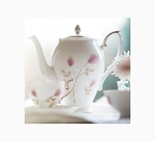 Hand painted china teapot, cup and saucer, with a flower. Unisex T-Shirt