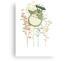 Totoro's flowers Canvas Print