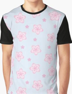 Kawaii Sakura Cherry Blossoms Graphic T-Shirt