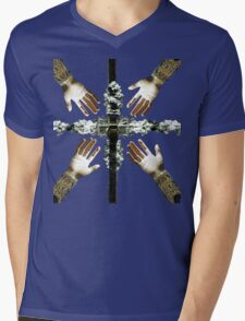 Holy Hands and the Cross Relic Mens V-Neck T-Shirt