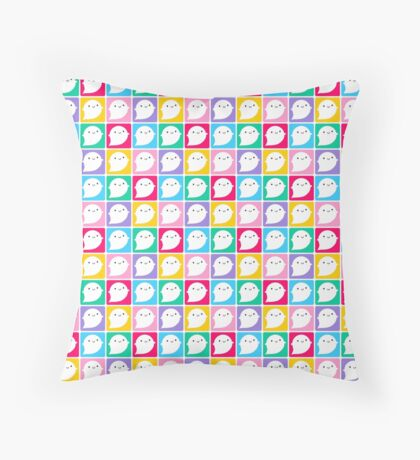 Colourful Little Ghosts Throw Pillow
