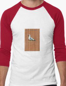 Gulls on Grass #1 Men's Baseball ¾ T-Shirt