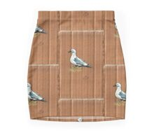 Gulls on Grass #1 Mini Skirt