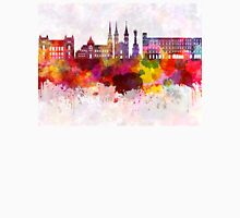 Linz skyline in watercolor background Unisex T-Shirt