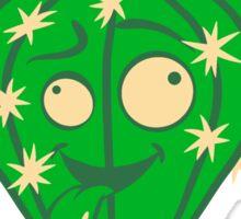 comic face funny crazy cartoon kids babys sweet cute design small beautiful flowerpot green cactus Sticker