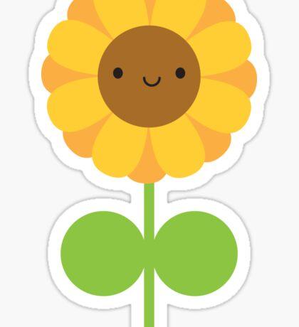 Kawaii Sunflower Sticker