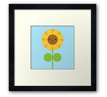 Kawaii Sunflower Framed Print