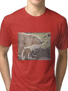 ..into a new world with Mammy...  Tri-blend T-Shirt